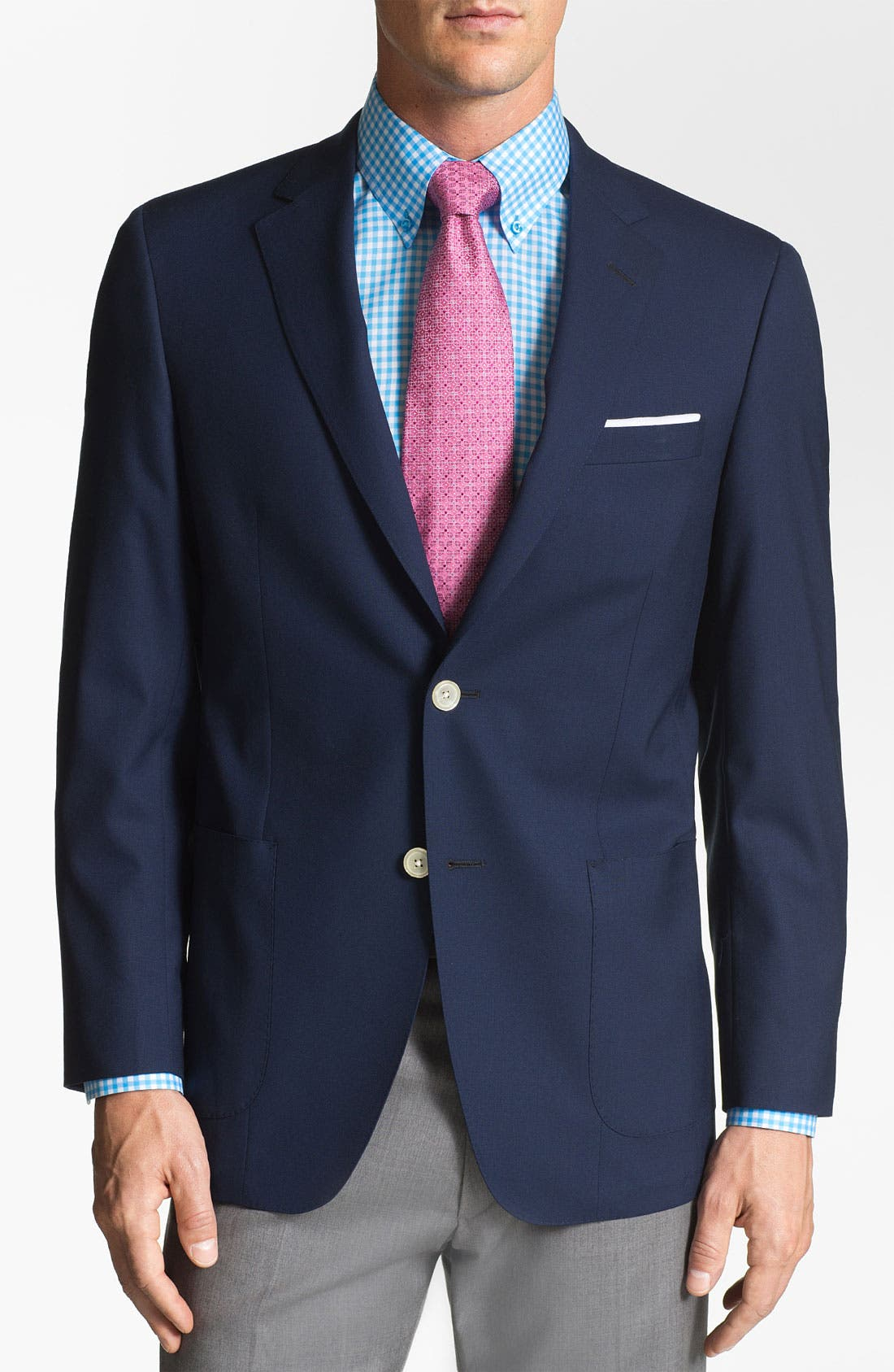 Alternate Image 1 Selected - Samuelsohn Poplin Blazer
