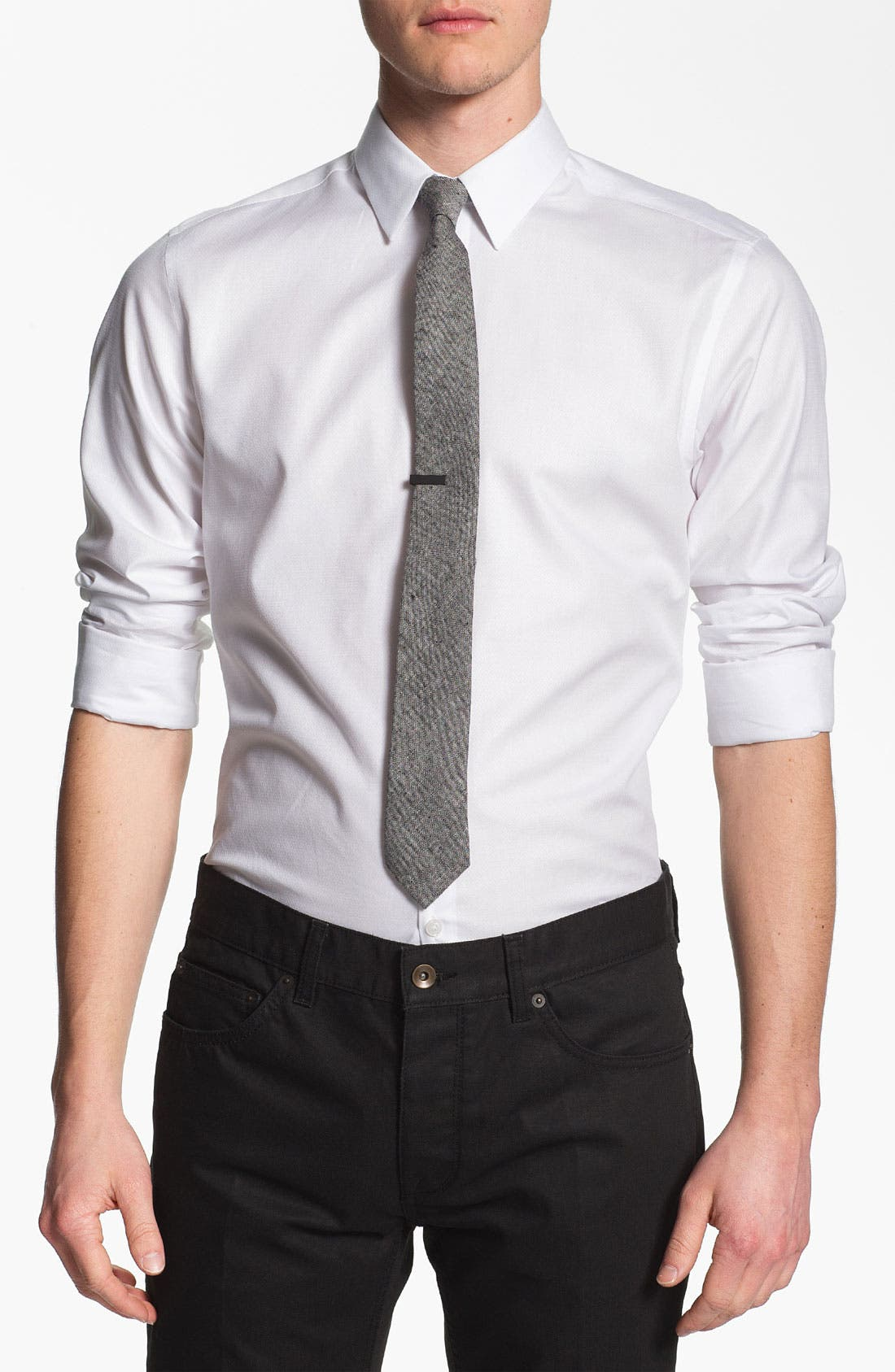 Alternate Image 1 Selected - Topman 'Lux Collection' Dress Shirt