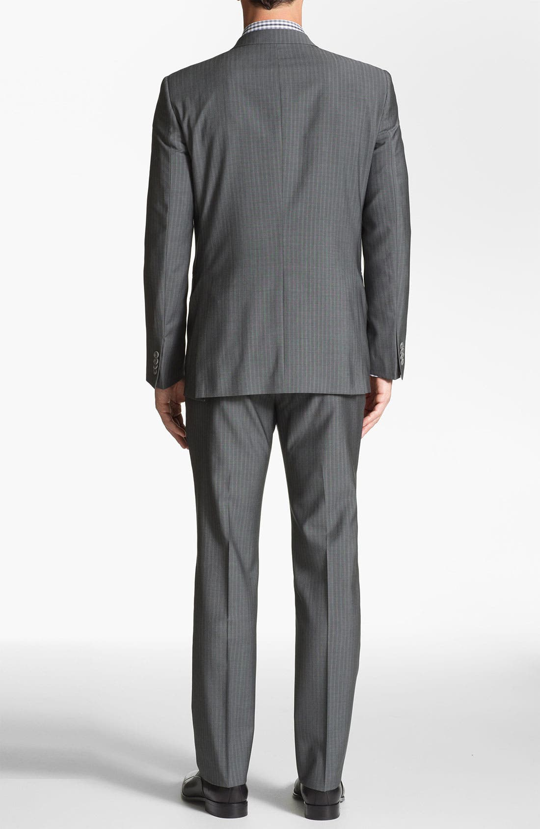 Alternate Image 3  - John Varvatos Star USA 'Filmore' Trim Fit Stripe Suit