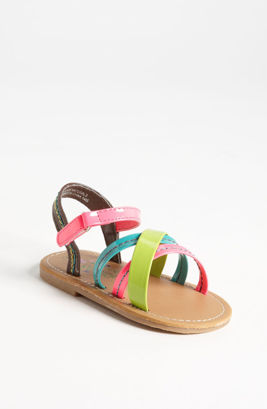 Alternate Image 1 Selected - Laura Ashley 'Neon' Sandal (Walker & Toddler)