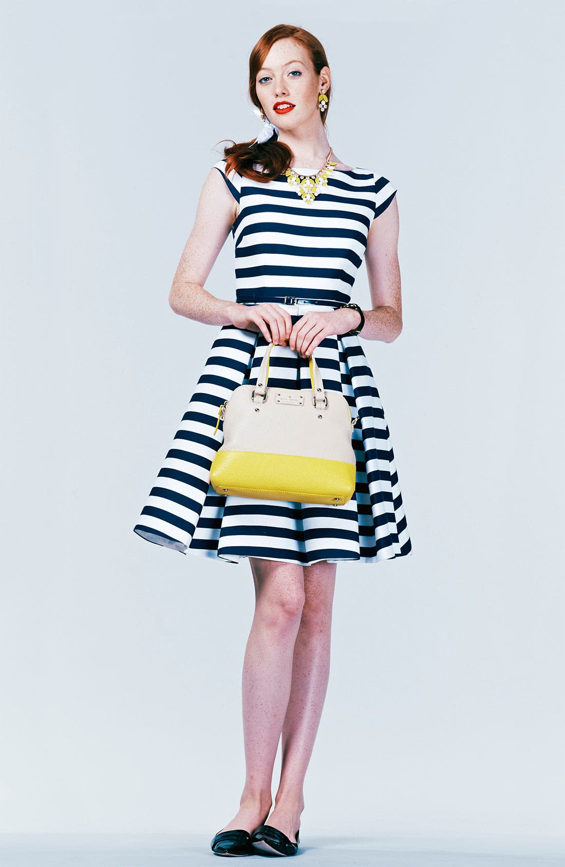 Alternate Image 4  - kate spade new york 'mariella' cotton blend fit & flare dress