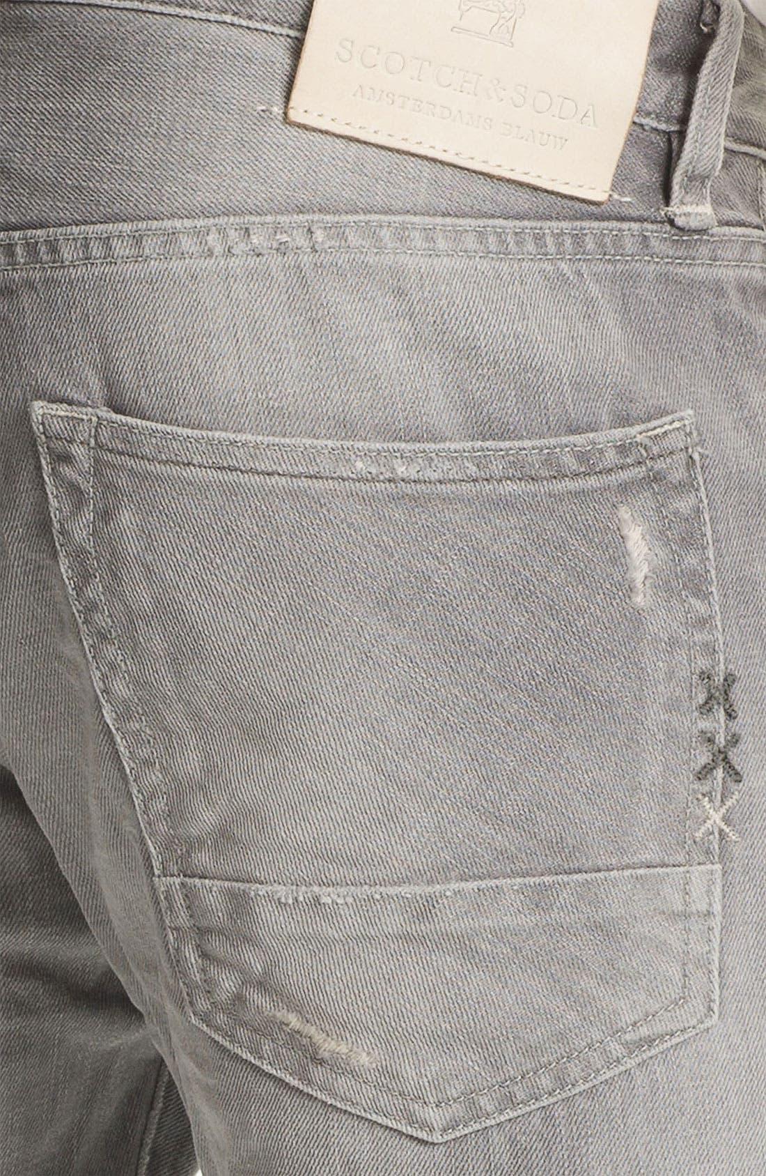 Alternate Image 4  - Scotch & Soda 'Ralston' Slim Straight Leg Jeans (Stoner)