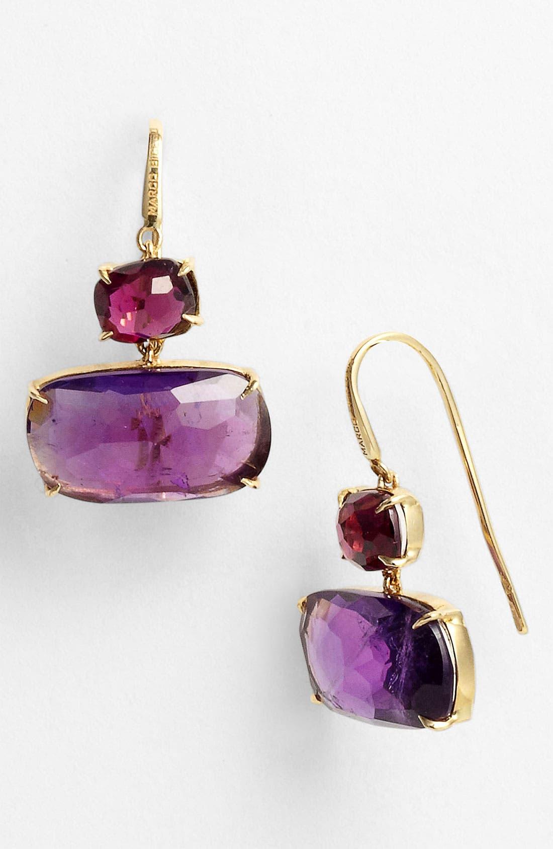 Alternate Image 1 Selected - Marco Bicego 'Murano' Garnet & Amethyst Drop Earrings