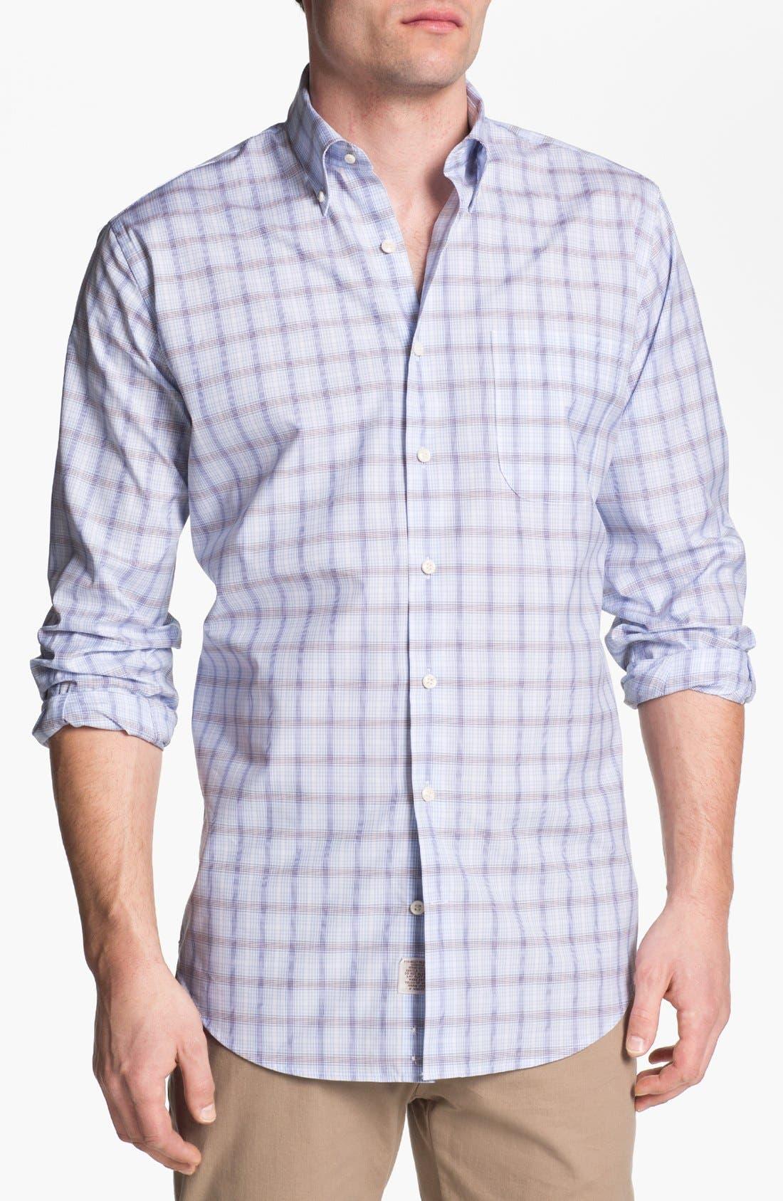 Main Image - Peter Millar 'Zurich' Regular Fit Plaid Sport Shirt (Tall)