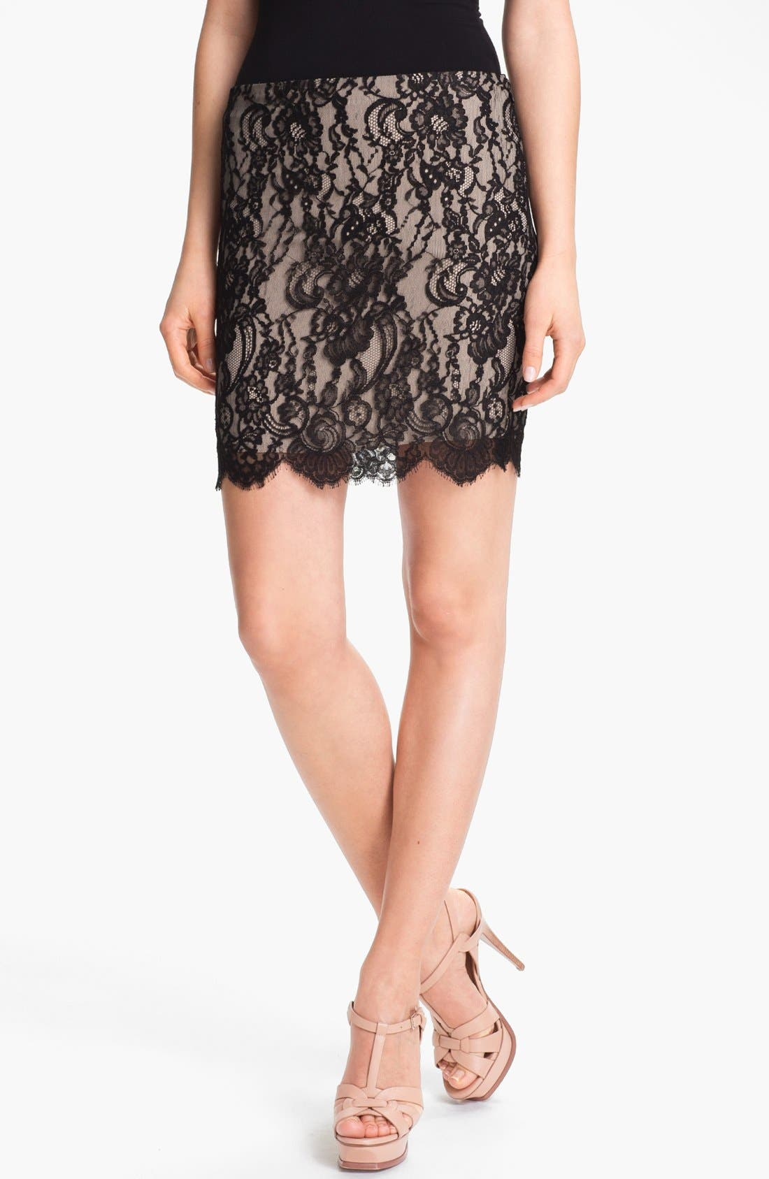 Alternate Image 1 Selected - Haute Hippie Lace Pencil Skirt