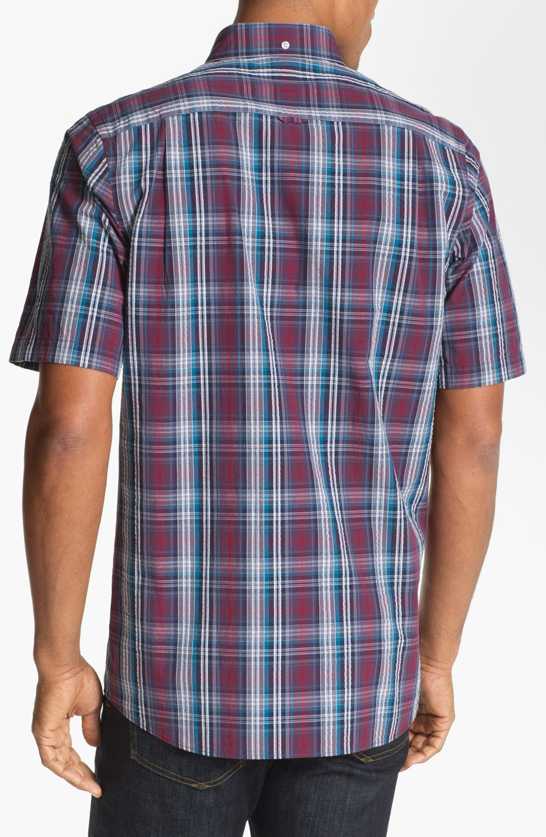 Alternate Image 2  - Nordstrom Regular Fit Seersucker Sport Shirt