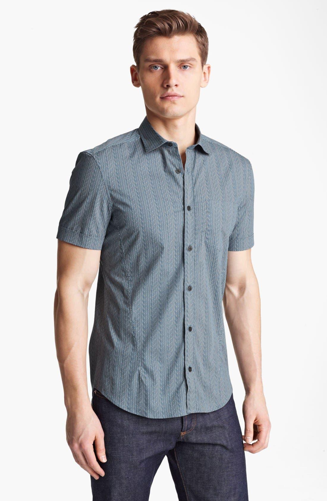 Alternate Image 1 Selected - Z Zegna Geometric Print Woven Shirt