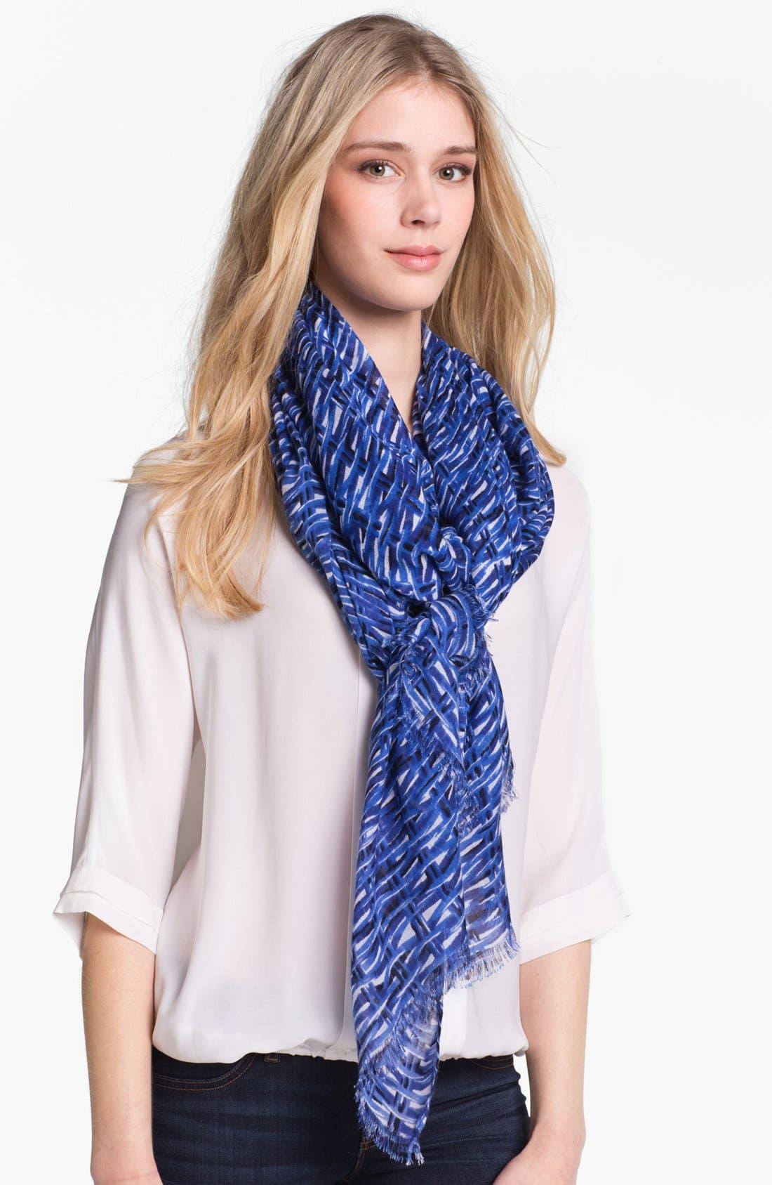 Alternate Image 1 Selected - kate spade new york 'basket weave' scarf