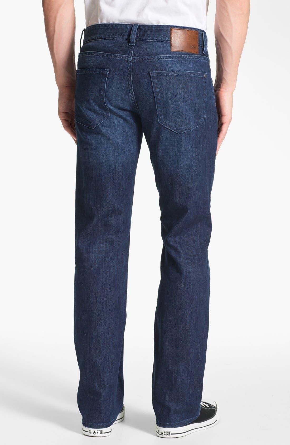 Alternate Image 2  - BOSS Black 'Kansas' Regular Fit Jeans (Blue Authentic)