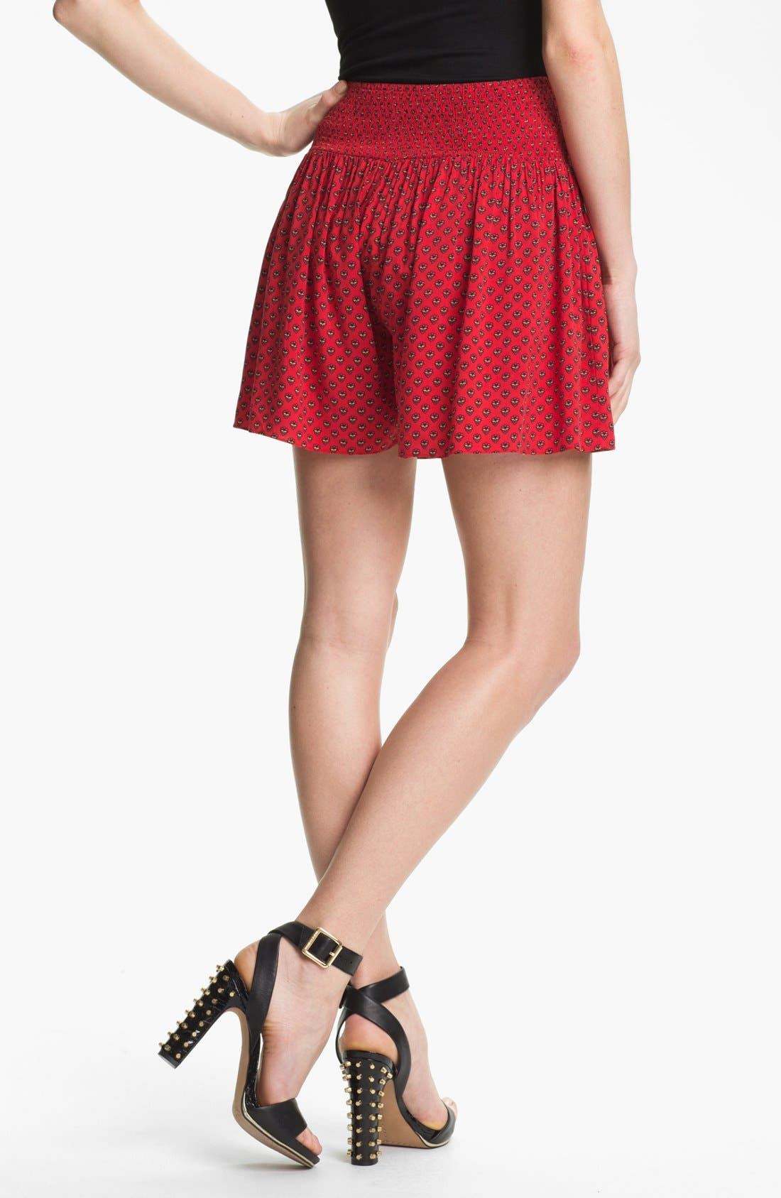 Alternate Image 2  - Two by Vince Camuto Smock Waist Print Shorts