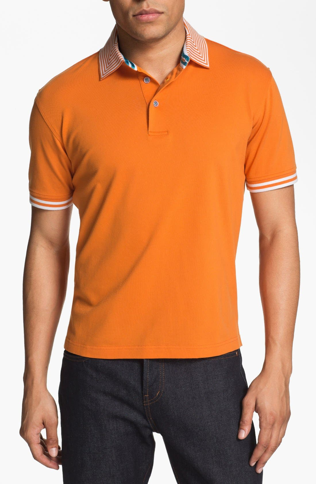 Alternate Image 1 Selected - Robert Graham 'Hayden' Knit Polo