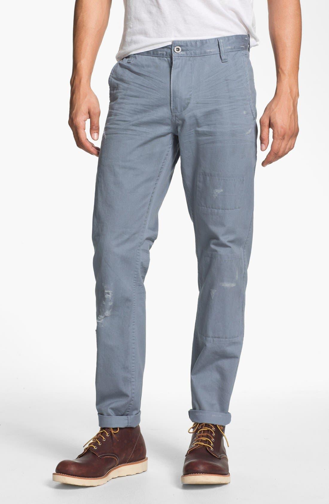Alternate Image 1 Selected - Dockers® 'Alpha Khaki - Destructed' Slim Straight Leg Chinos