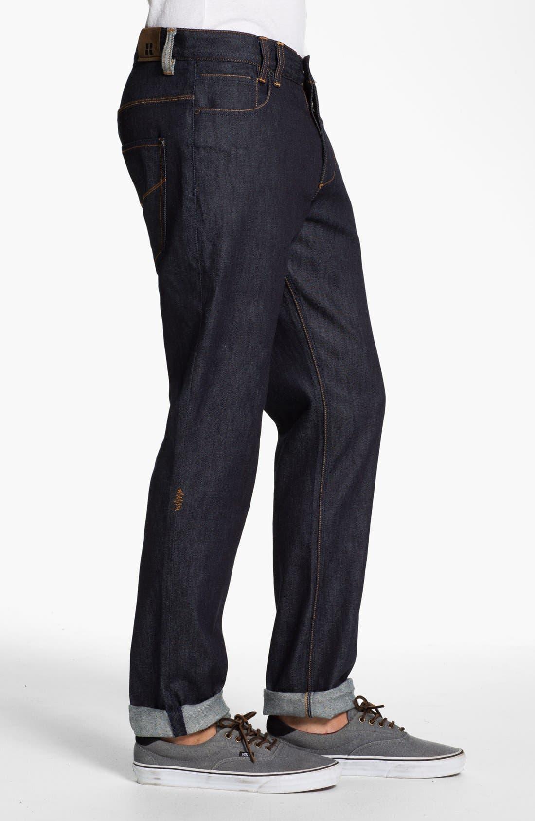 Alternate Image 3  - Insight 'Loose Joints' Slim Leg Jeans (Indigo Raw)