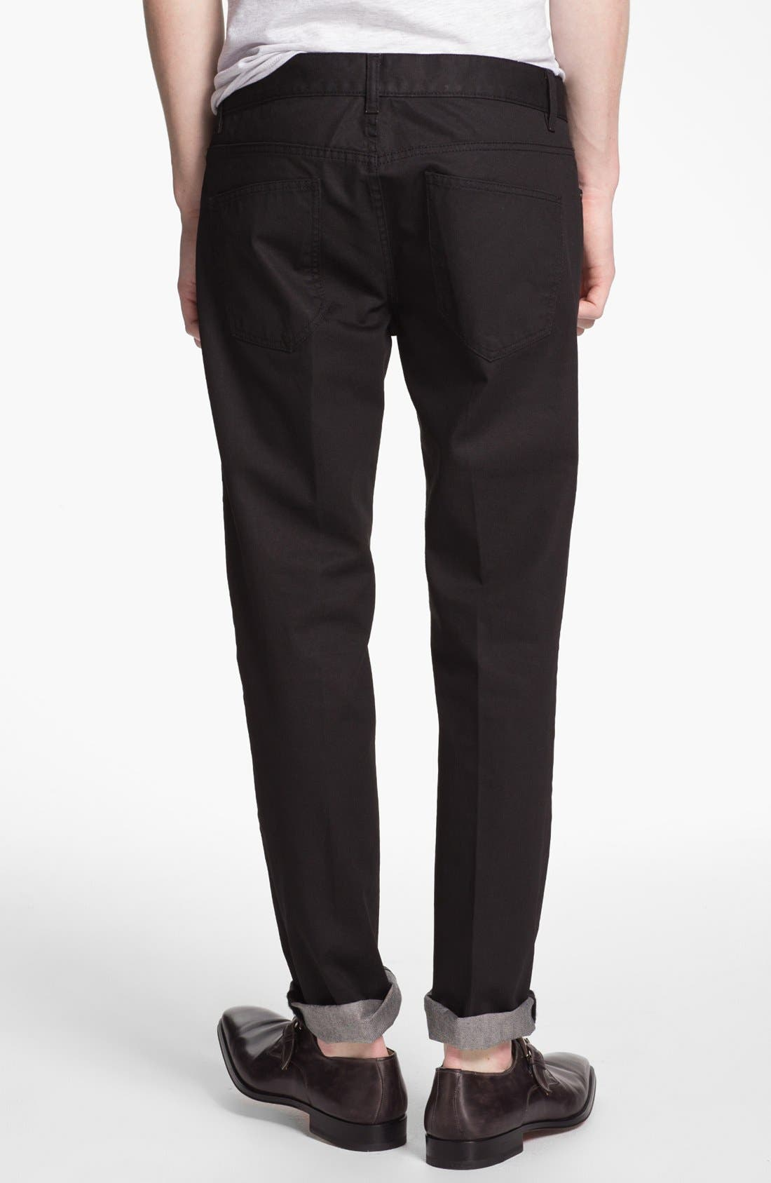 Alternate Image 1 Selected - Topman 'Lux Collection' Coated Skinny Jeans