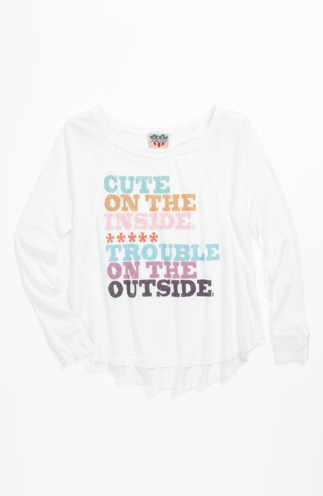 Main Image - Junk Food 'Cute On The Inside' Tee (Big Girls)
