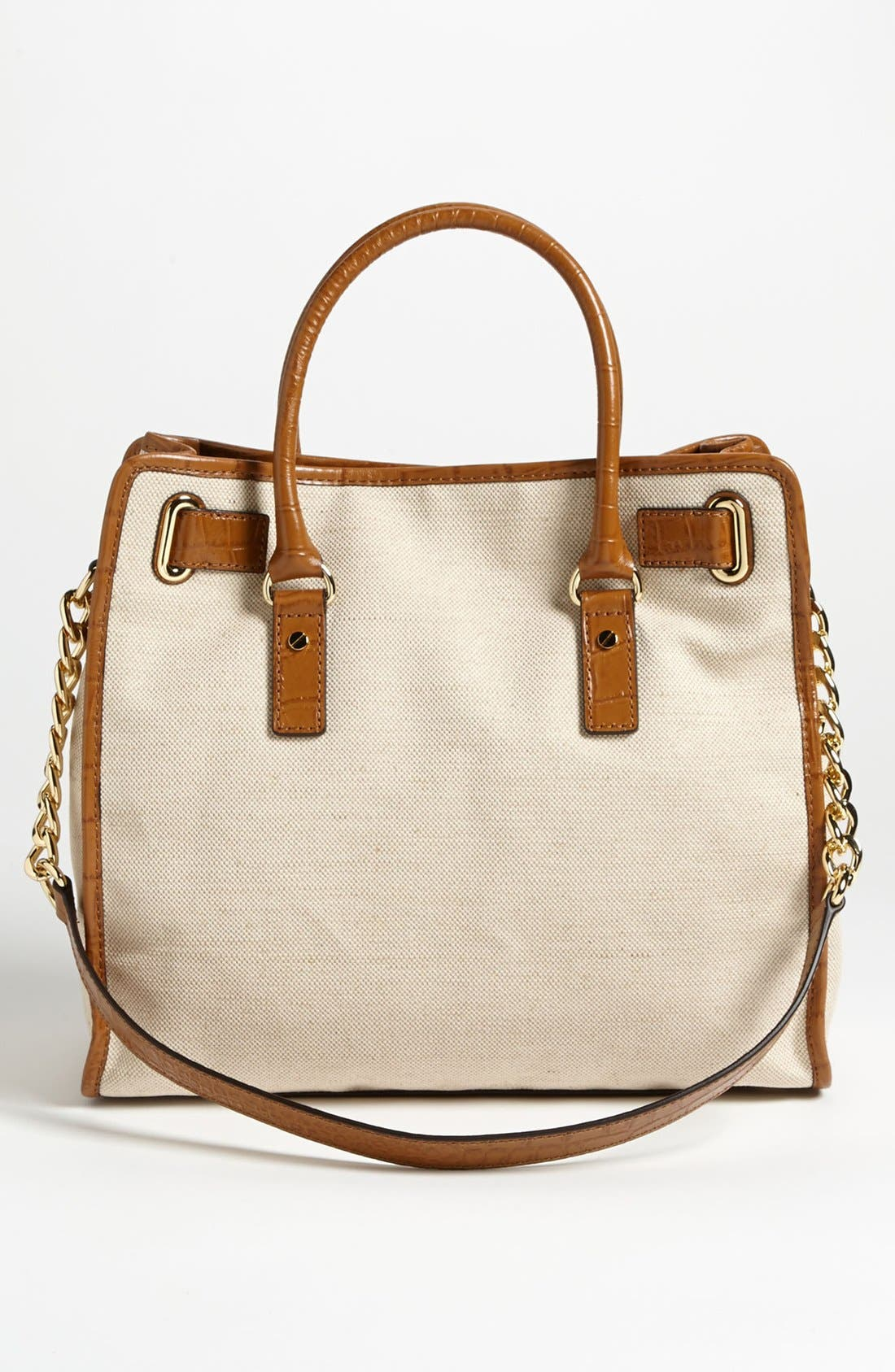 Alternate Image 4  - MICHAEL Michael Kors 'Hamilton - Large' Canvas Tote