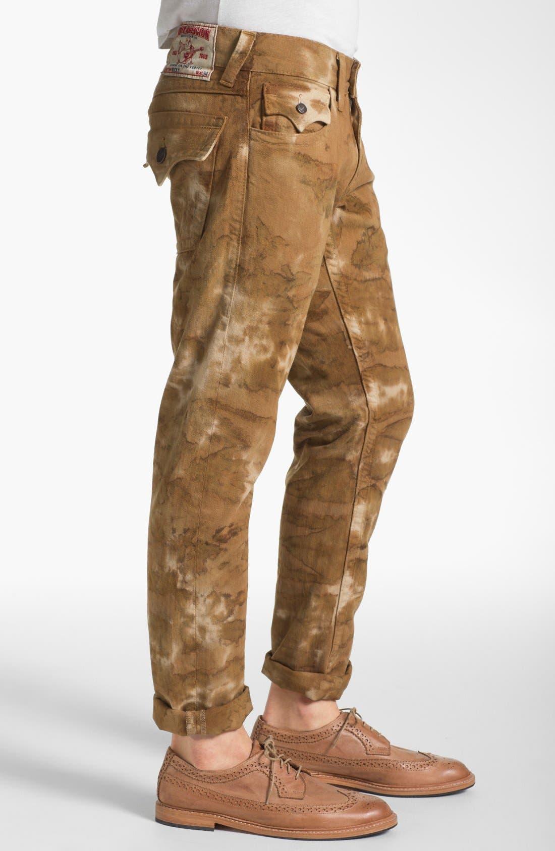 Alternate Image 3  - True Religion Brand Jeans 'Ricky' Straight Leg Jeans (Desert Sand)