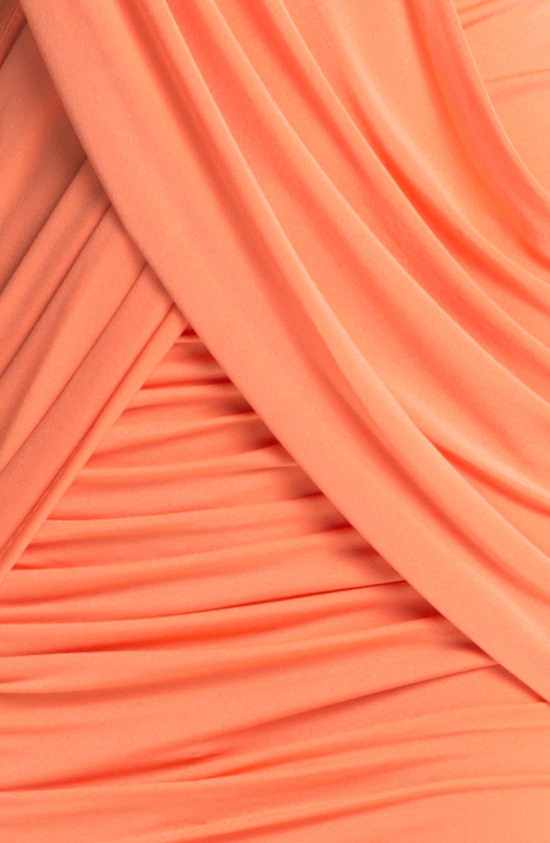 Alternate Image 3  - BCBGMAXAZRIA Crisscross Jersey Sheath Minidress