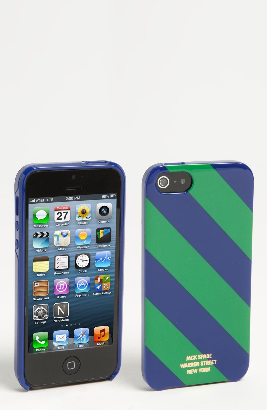 Alternate Image 1 Selected - Jack Spade 'Repp Stripe' iPhone 5 Case