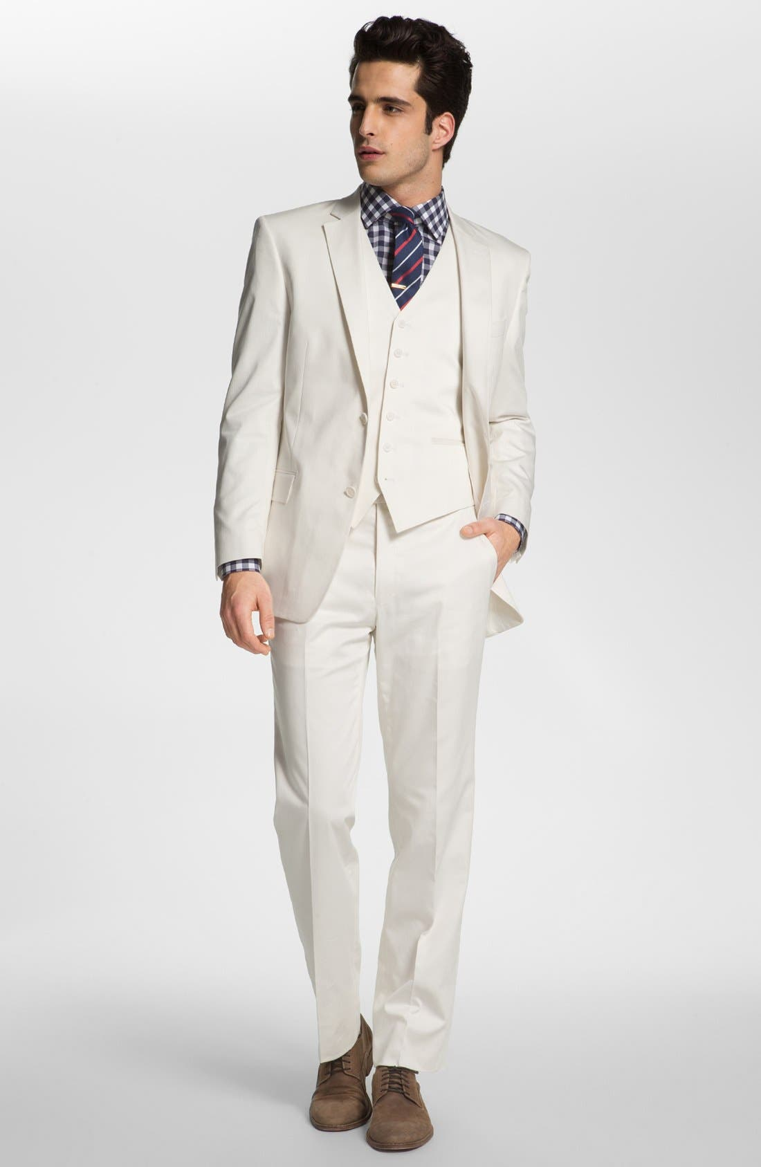 Alternate Image 3  - BOSS HUGO BOSS Woven Linen & Silk Tie