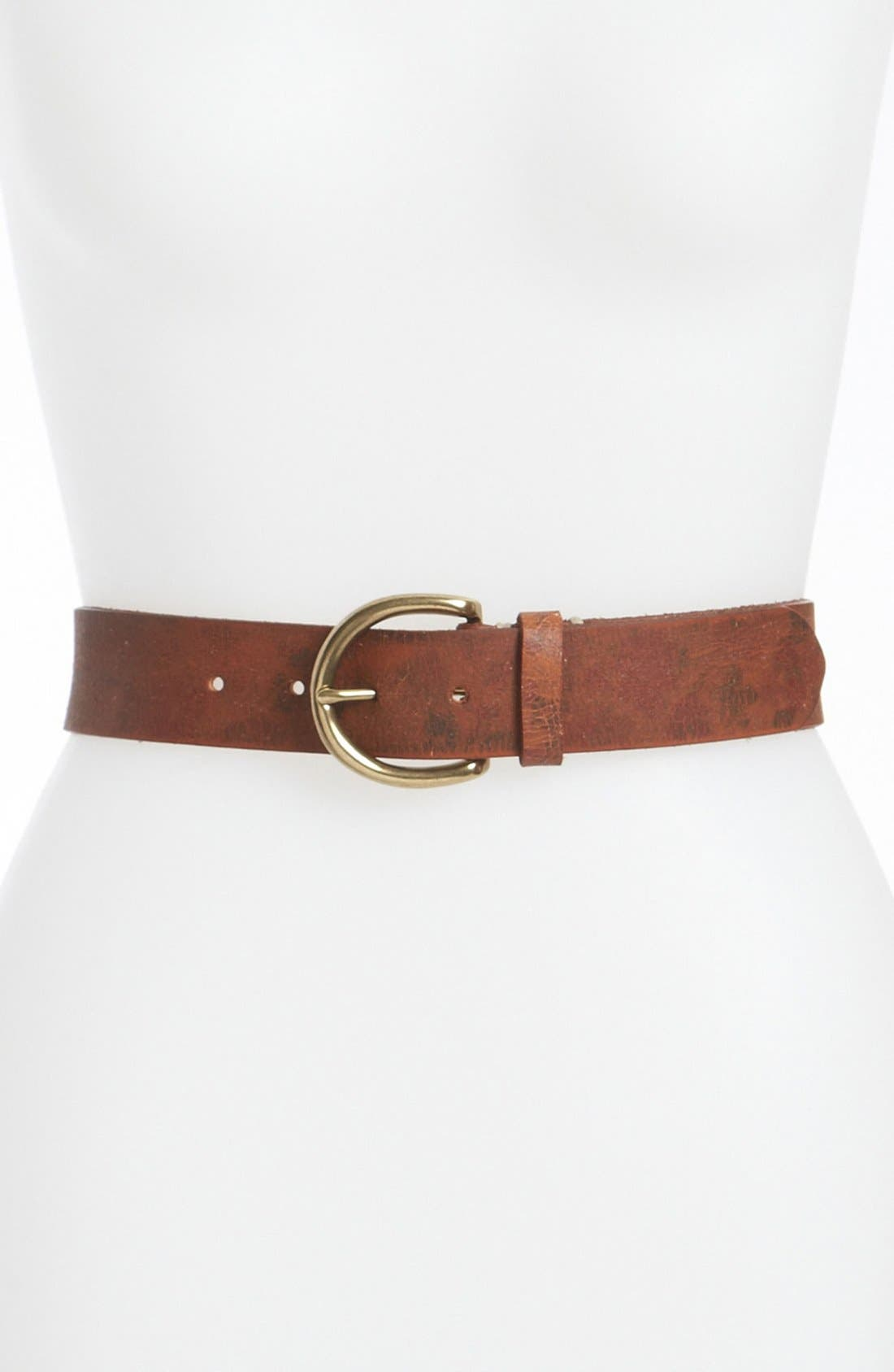 Alternate Image 1 Selected - Fina Firenze Belts 'Floral Foiled Denim' Leather Belt