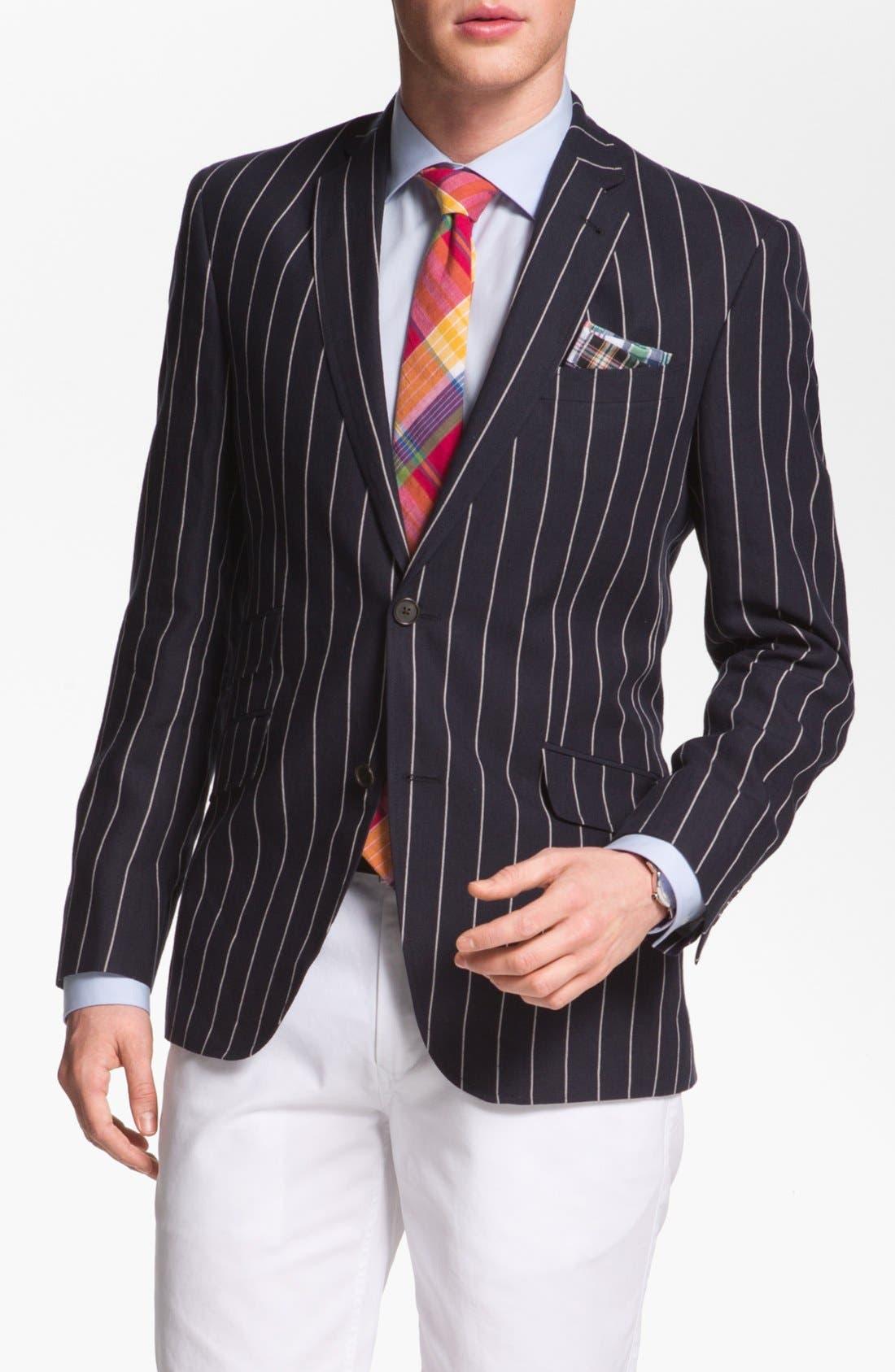 Alternate Image 1 Selected - Ted Baker London Trim Fit Stripe Sportcoat