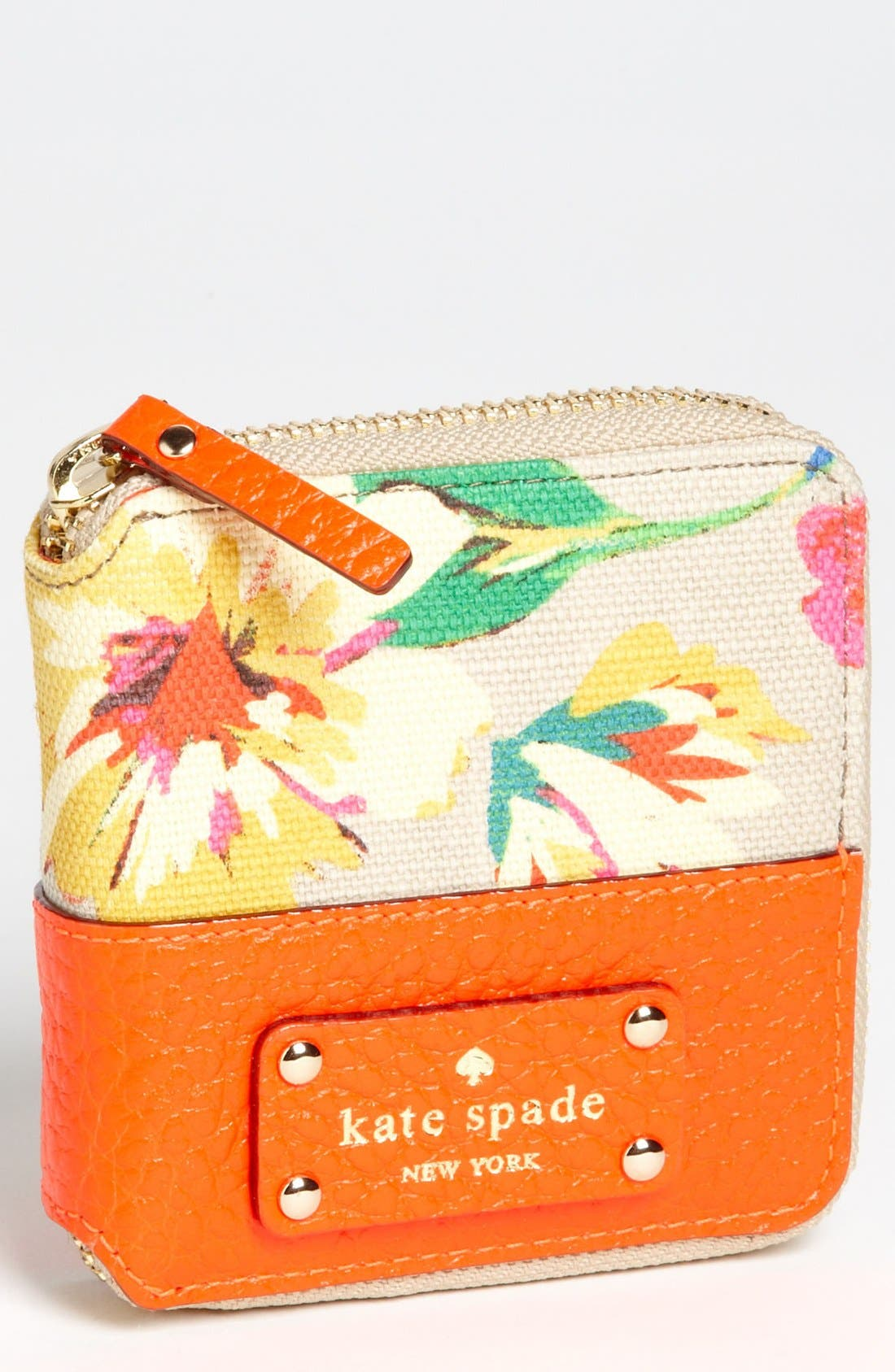 Alternate Image 1 Selected - kate spade new york 'grove court floral - delores' french wallet