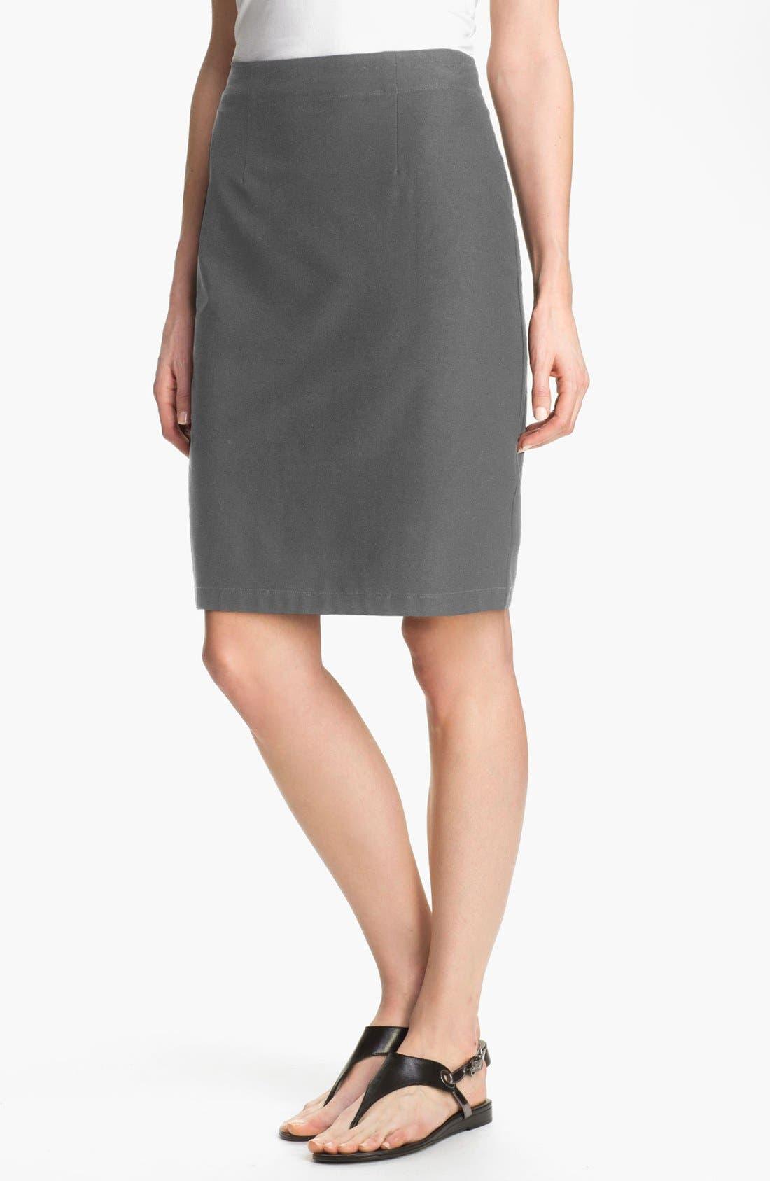 Alternate Image 1  - Eileen Fisher Knit Pencil Skirt (Regular & Petite)