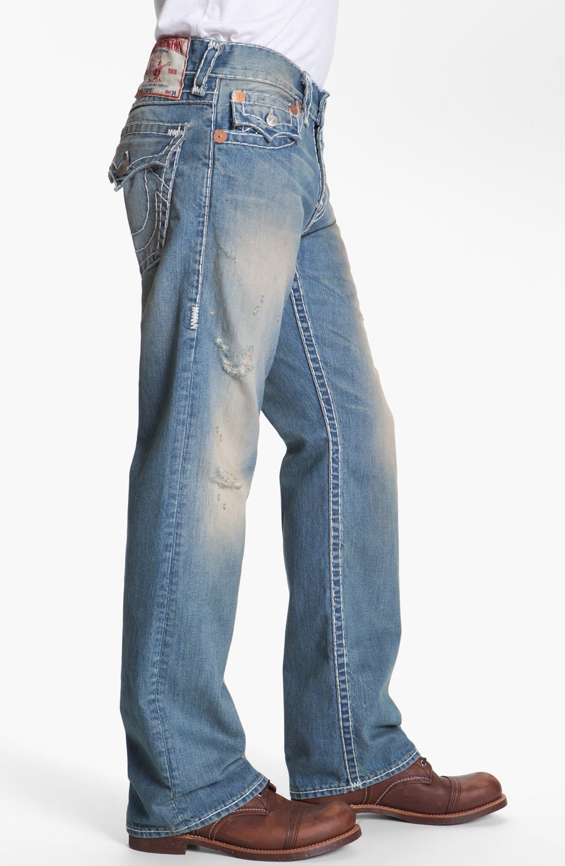 Alternate Image 3  - True Religion Brand Jeans 'Billy - Natural Super-T' Bootcut Jeans (Wicket)