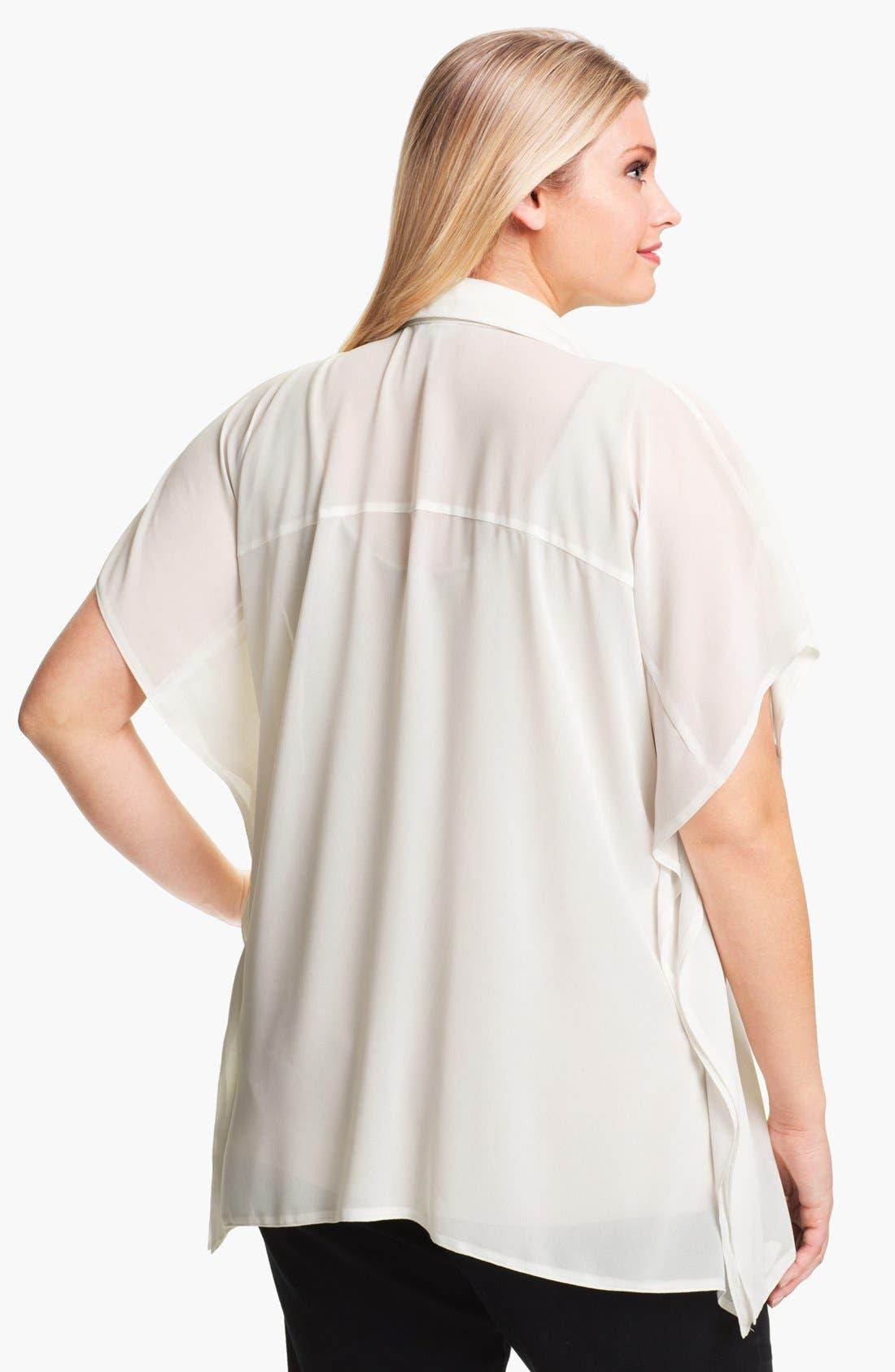 Alternate Image 2  - Evans Button Down Tunic (Plus Size)