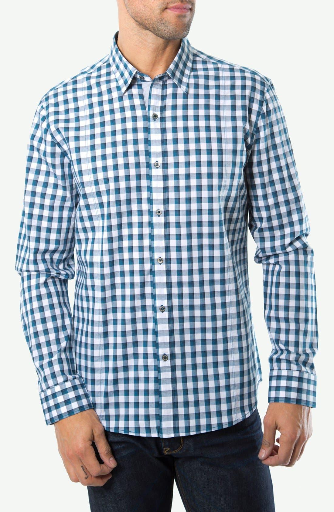 Alternate Image 1 Selected - 7 Diamonds 'I Will Wait' Gingham Sport Shirt