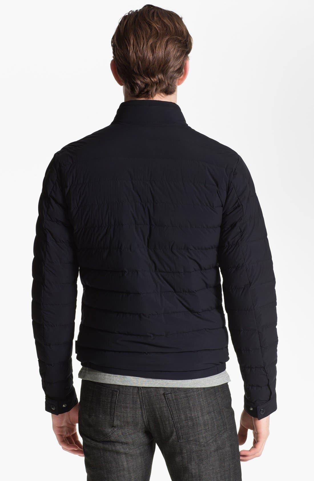 Alternate Image 2  - Moncler 'Acorus' Matte Down Moto Jacket