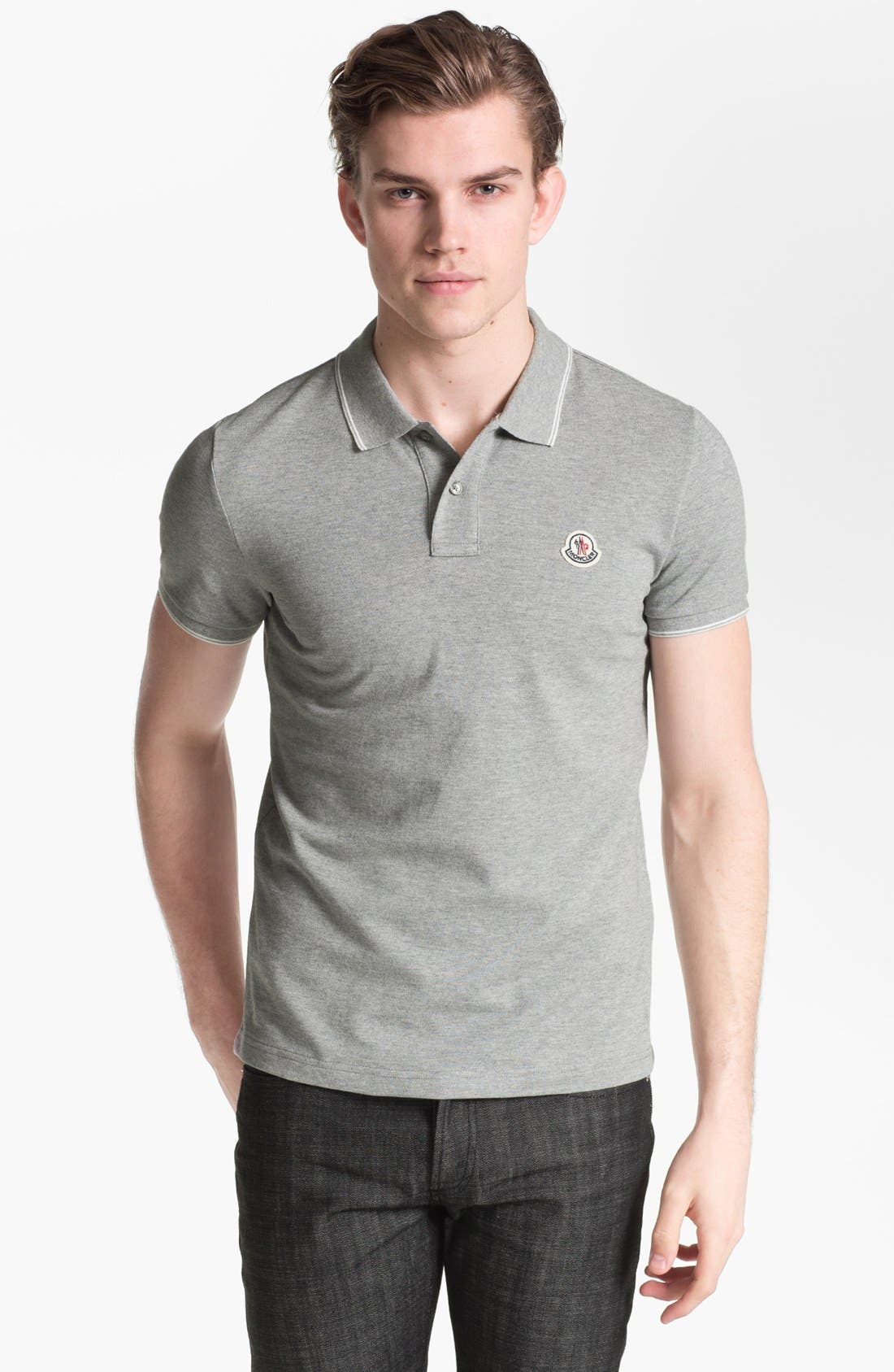 Alternate Image 1 Selected - Moncler Tipped Cotton Polo