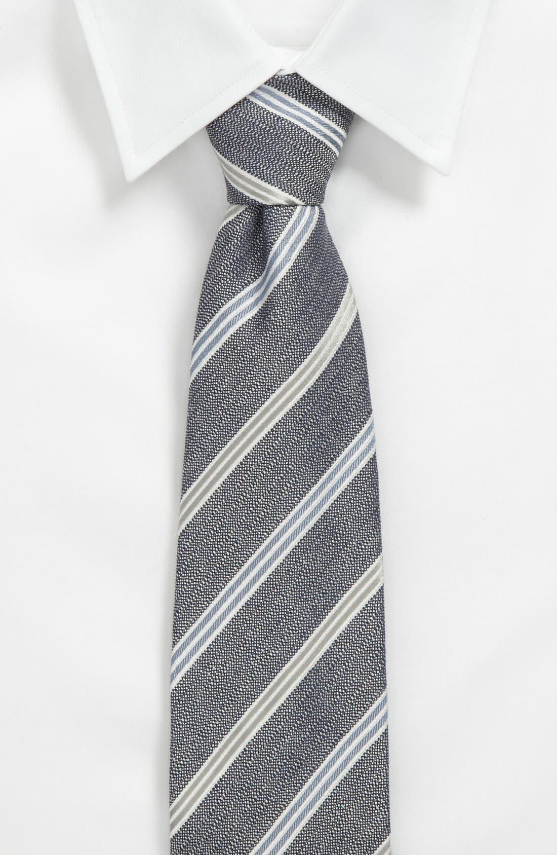 Alternate Image 2  - Armani Collezioni Woven Tie