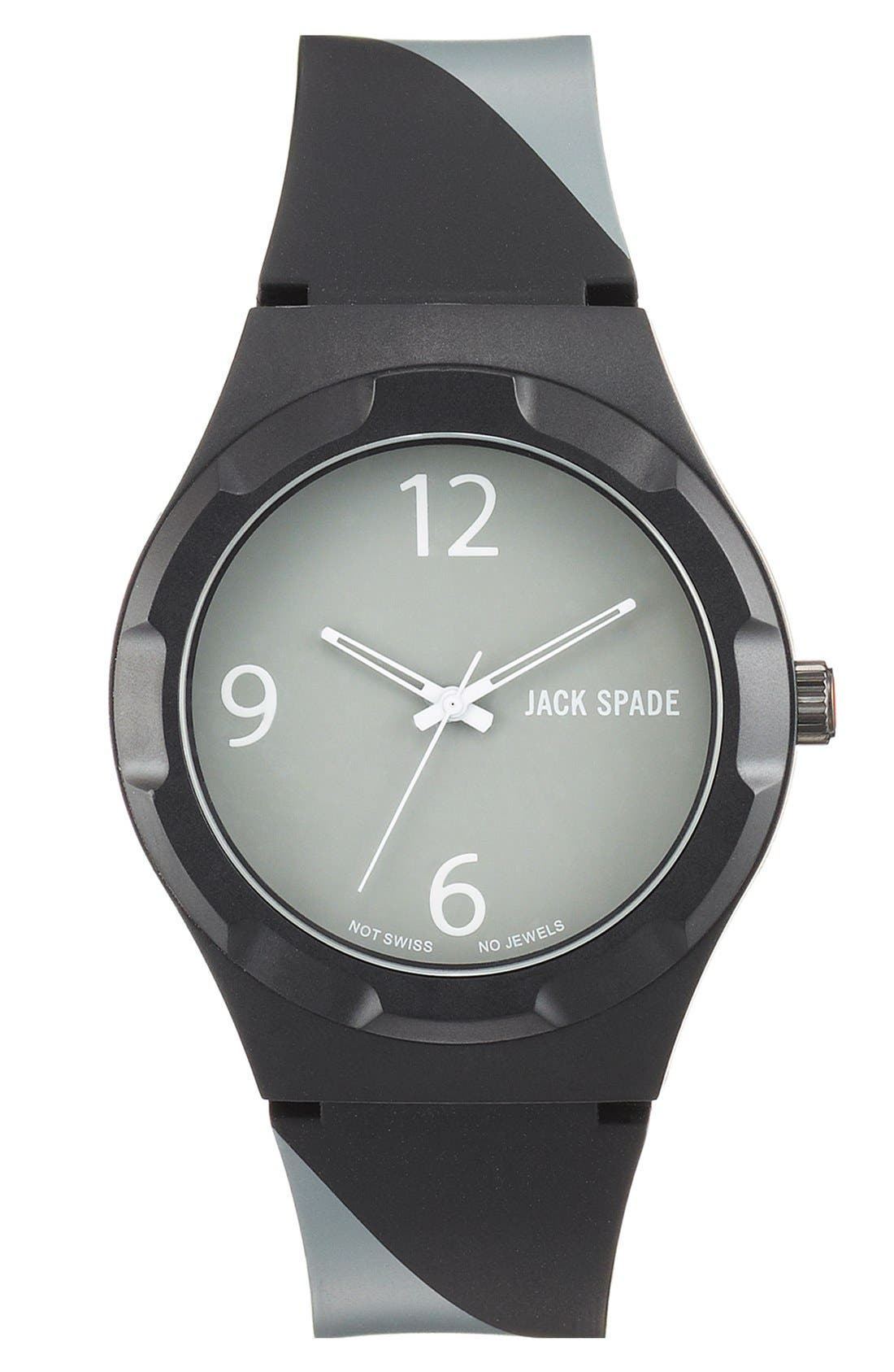 Alternate Image 1 Selected - Jack Spade 'Graphic - Stripe' Watch, 40mm