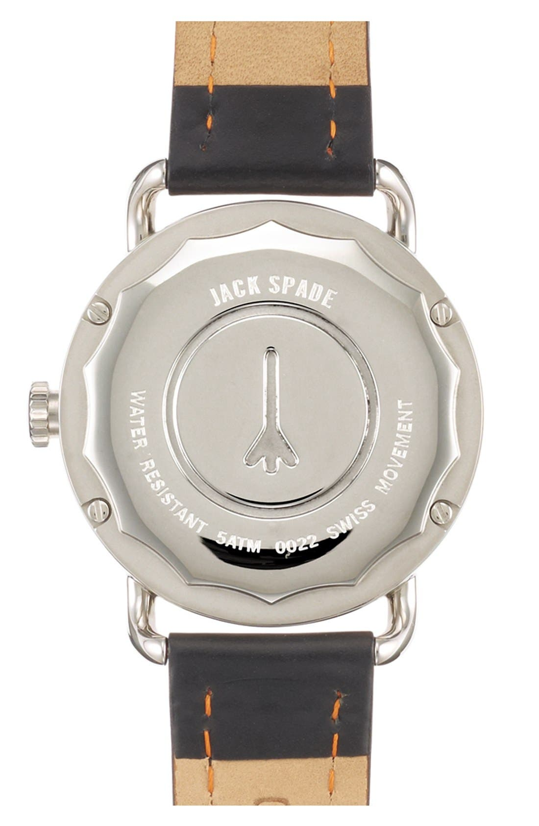 Alternate Image 2  - Jack Spade 'Classic Military - Stillwell' Round Watch, 38mm