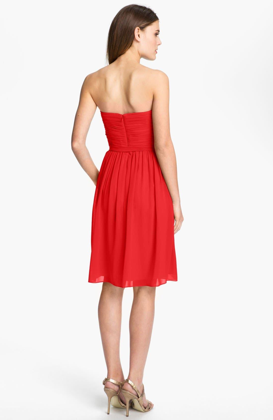 Alternate Image 2  - Donna Morgan Ruched Chiffon Dress