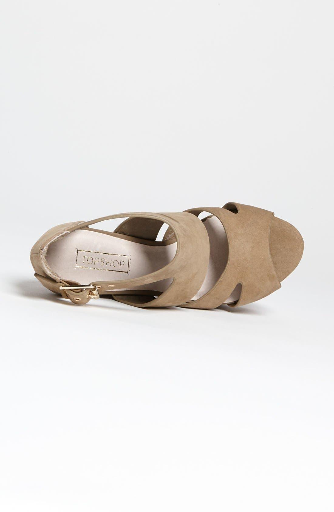 Alternate Image 3  - Topshop 'Lanie' High Vamp Cutout Sandal