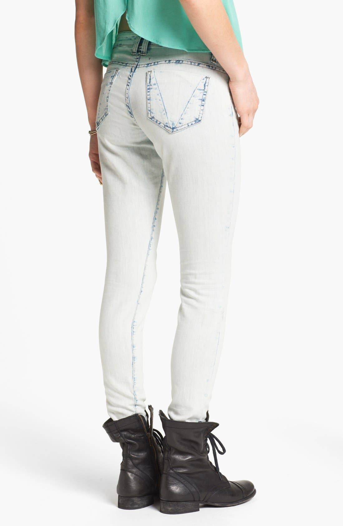 Alternate Image 2  - STS Blue Acid Wash Skinny Jeans (Juniors)