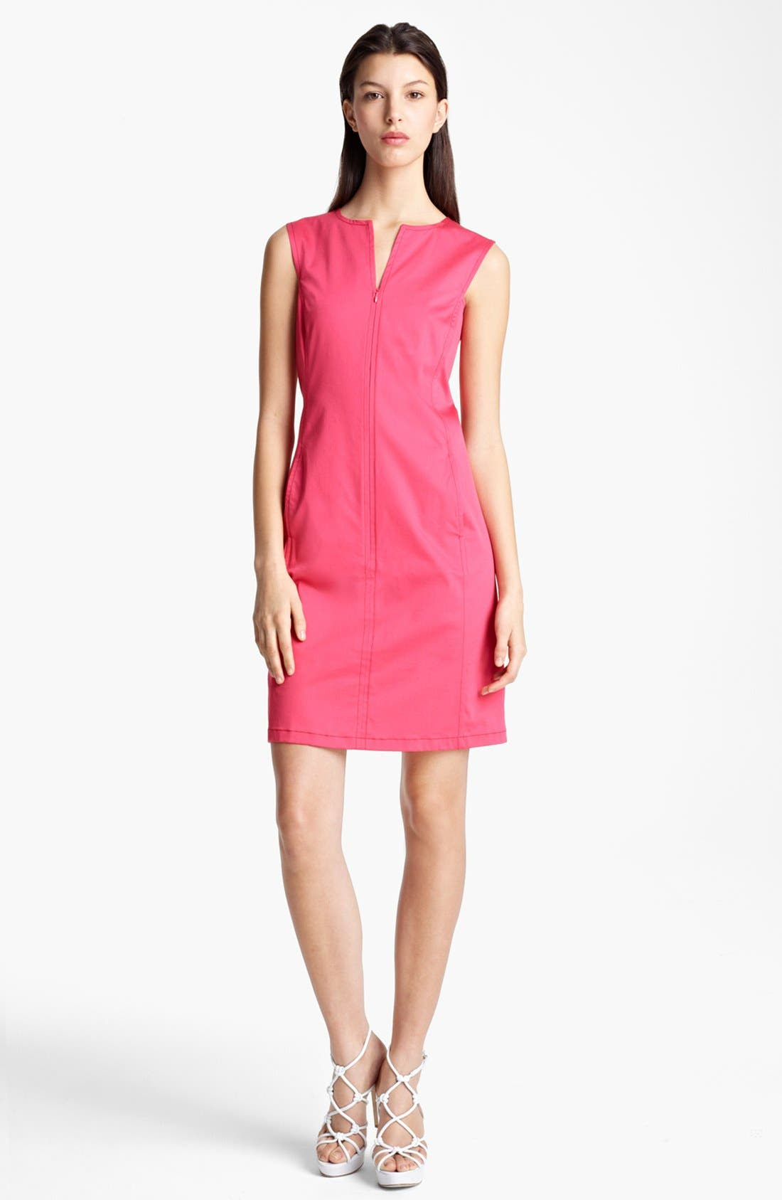 Alternate Image 1 Selected - Armani Collezioni Zip Front Dress
