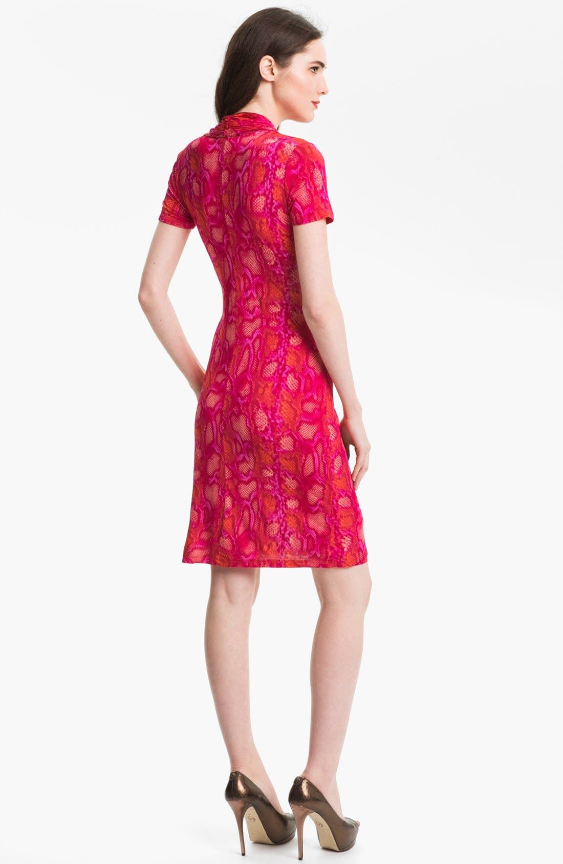 Alternate Image 2  - Karen Kane Snakeskin Print Faux Wrap Dress