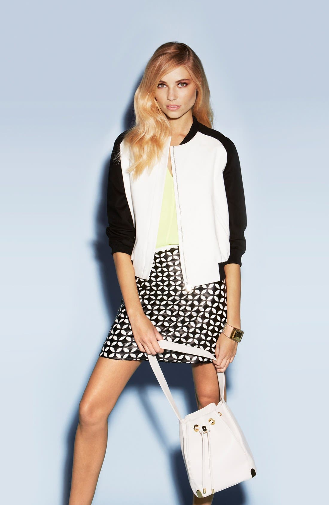 Alternate Image 1 Selected - Vince Camuto Jacket, Blouse, Skirt & Tote