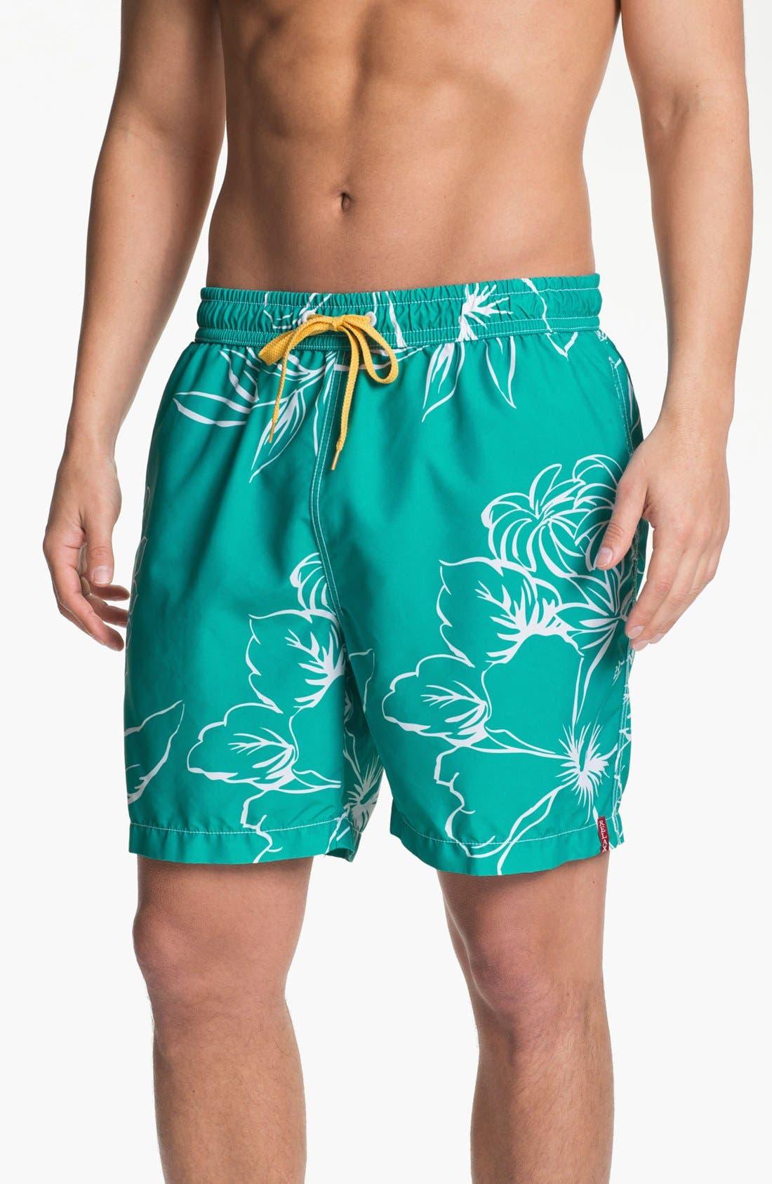 Main Image - Tommy Bahama 'Bloom Over Miami' Swim Trunks
