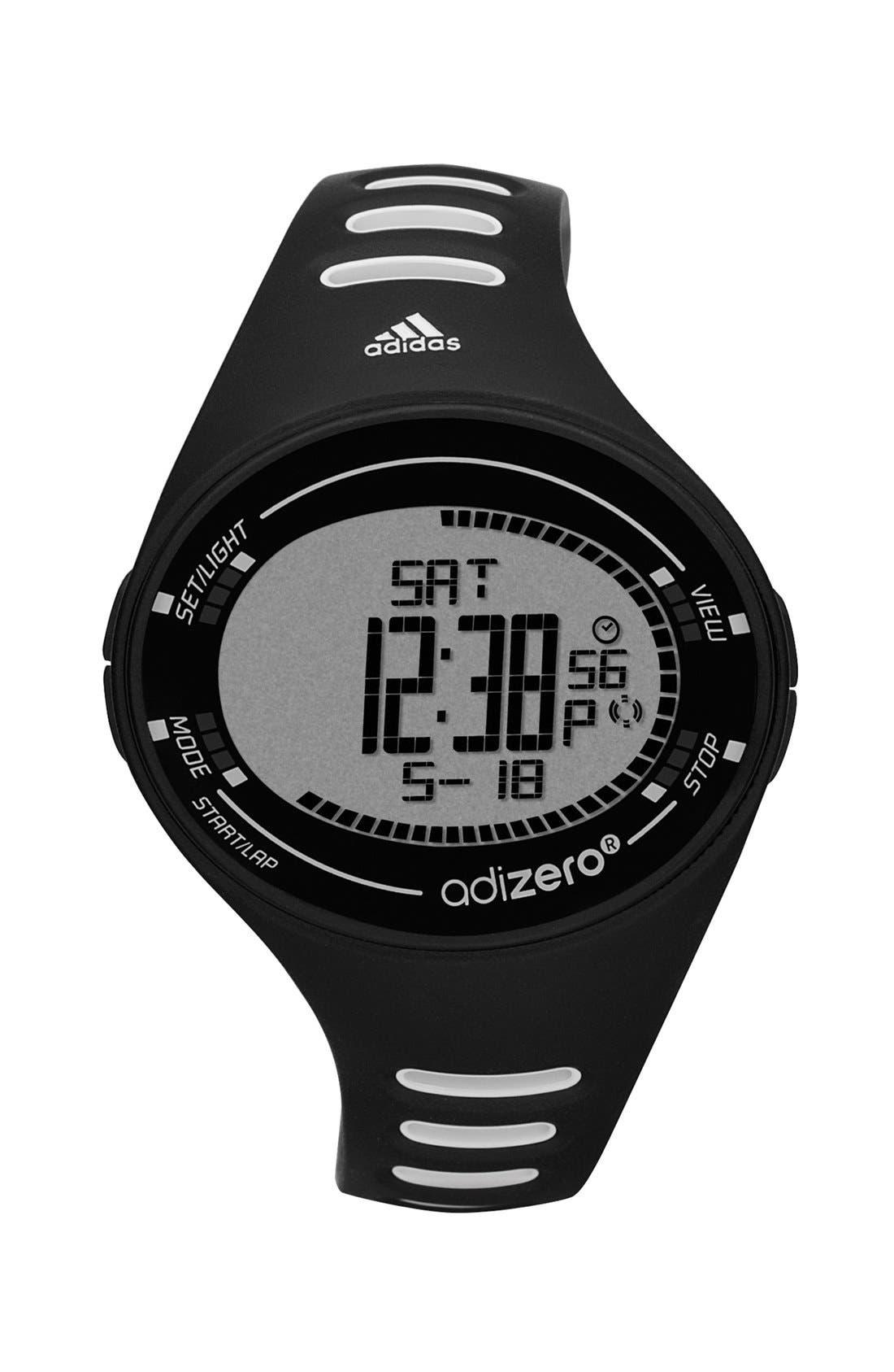 Alternate Image 1 Selected - adidas Performance 'adiZero' Digital Sport Watch, 42mm x 33mm