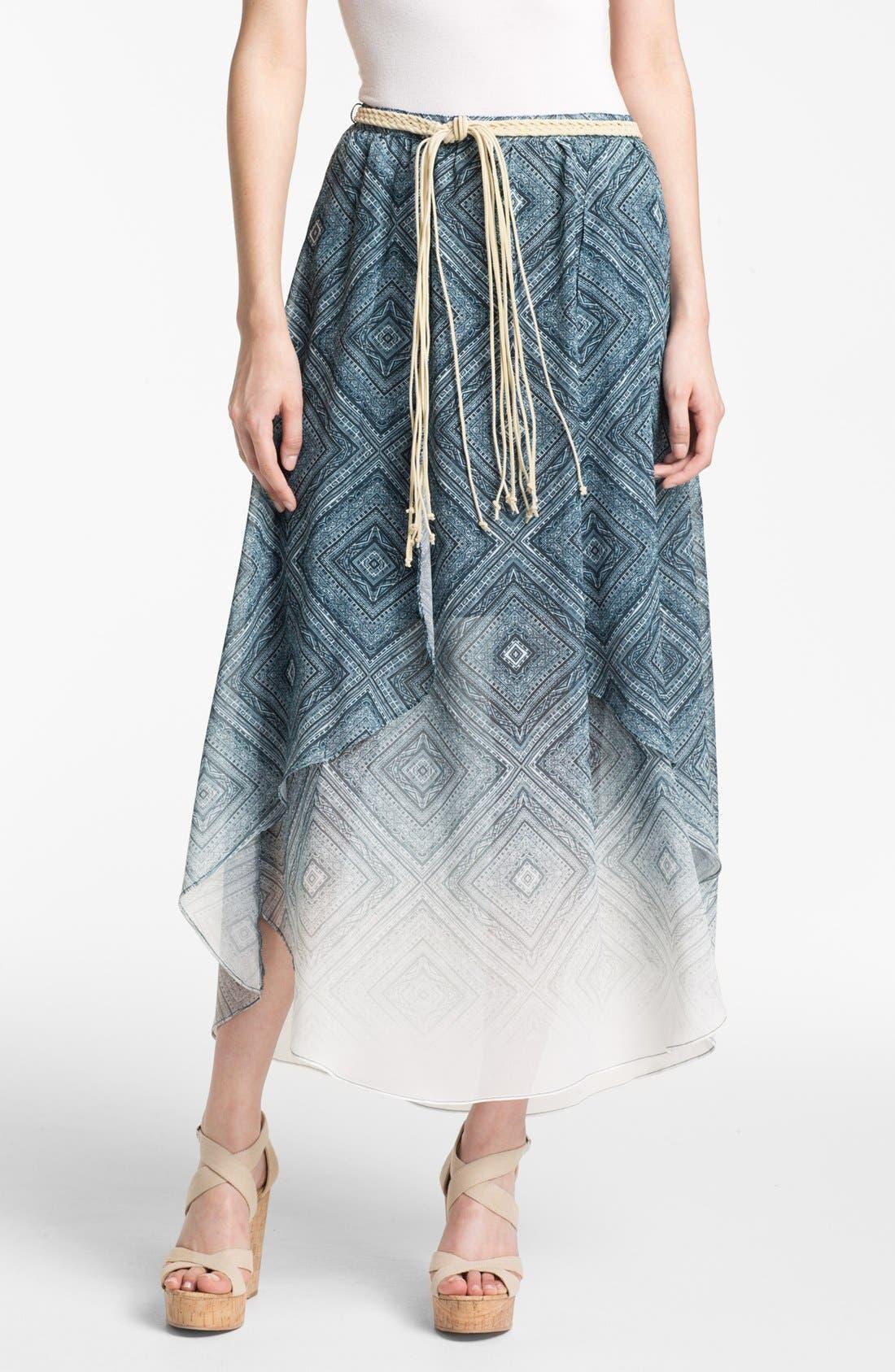 Alternate Image 1 Selected - Sanctuary Handkerchief Chiffon Skirt