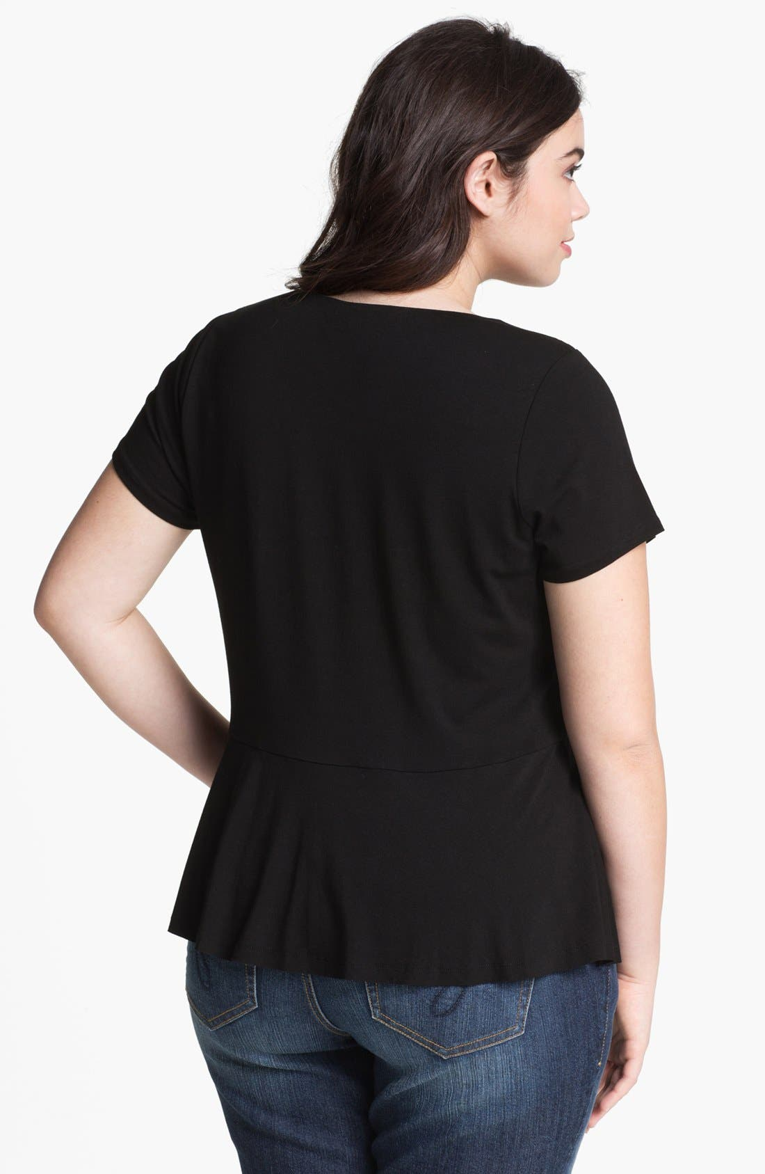 Alternate Image 2  - Vince Camuto Peplum Top (Plus Size)
