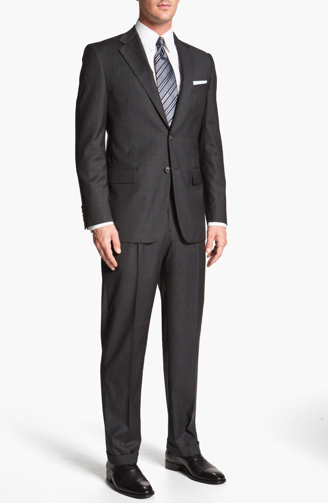Alternate Image 2  - Joseph Abboud 'Signature Silver' Plaid Wool Suit (Online Only)