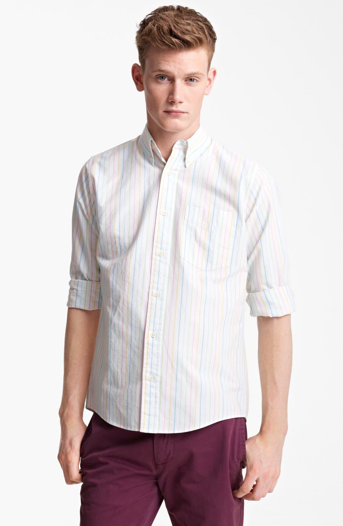 Alternate Image 1 Selected - Jack Spade Rainbow Stripe Oxford Shirt