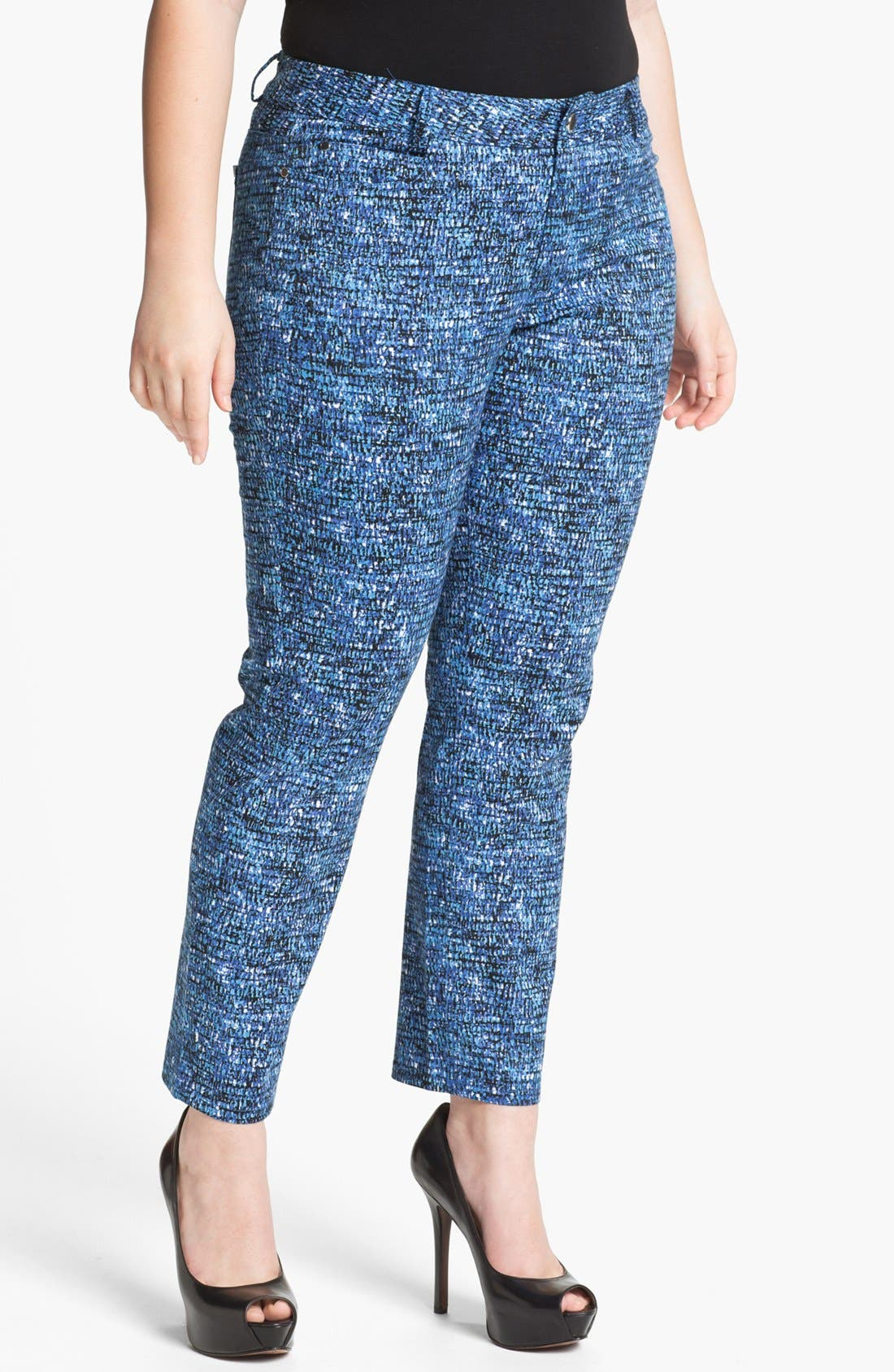 Alternate Image 1 Selected - DKNYC Skinny Ankle Jeans (Plus Size)