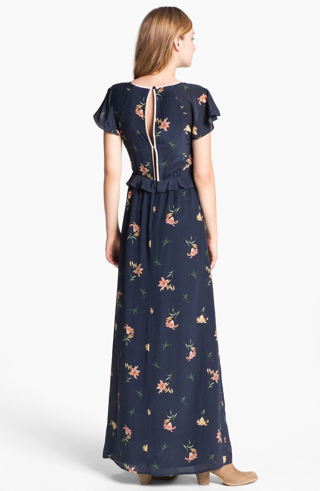Alternate Image 2  - French Connection 'Lilly Anna' Print Ruffled Maxi Dress